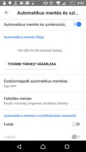 Google Fotók beállításai