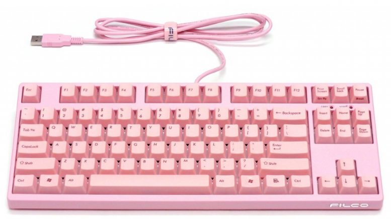 Rózsaszín billentyűzet