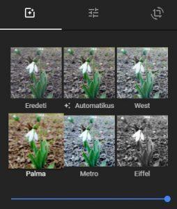Színszűrők a Google Fotókban