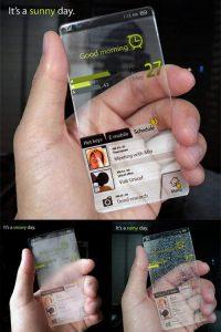 Átlátszó mobiltelefon